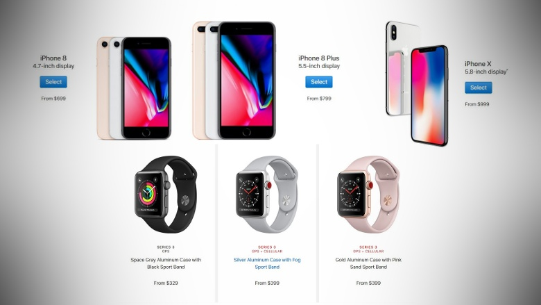 detailed look 8c12b afafd iPhone X, iPhone 8, iPhone 8 Plus, Apple Watch Series 3, and ...