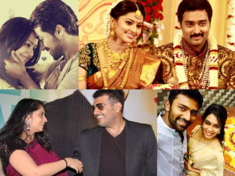 Shanthanu-Keerthi ,Prasanna-Sneha,Atlee-Priya,Udhayanidhi-Kiruthiga,Ganesh Venkatraman-Nisha,Khushboo-Sundar C,Sarathkumar and Radhika,Ajith Kumar-Shalini, Suriya and Jyothika,The top successful love marriages of Kollywood,Top real-life love stories of Kollywood,Kollywood real-life love stories ,Real-life love stories