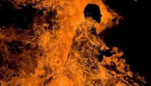 ISIS militant being burnt alive in Sinai