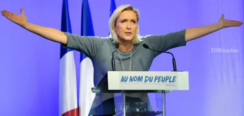 Illegal migrants and slash immigration,Marine Le Pen, Marine Le Pen presidential campaign, Free France if elected, Marine Le Pen promises to free  France, Far-right National Front party, French presidential election