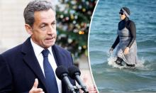 Sarkozy vows to ban burkini across France if elected as swimwear row rumbles on