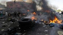 Baghdad markets bomb blast, Two civilians wounded