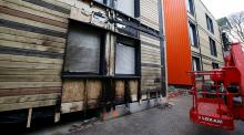 Apparent arson attack,