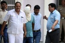 File photo of Sukesh Chandrasekhar being arrested by Delhi Police