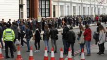 French expats line-up to vote at embassies and consulates