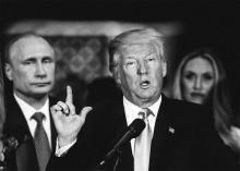 US President Donald Trump and Russia's Vladimir Putin