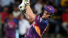 RPS batsman Ben Stokes plays a shot during the IPL against Gujarat Lions
