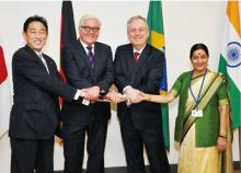 G4 countries seek early reform of UN Security Council