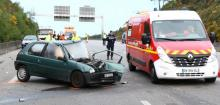 accident on the expressway in Lorient