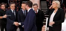 Top French presidential candidates in TV debate